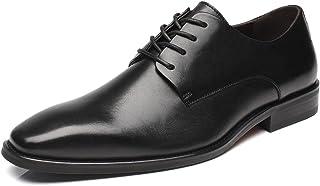 La Milano Mens Leather Updated Classic Cap Toe Oxfords Lace Dress Shoes Black Size: 12