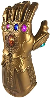 Yacn Thanos Infinity Gauntlet Glove for Adult with LED Light for Avengers 4 Movie Toy