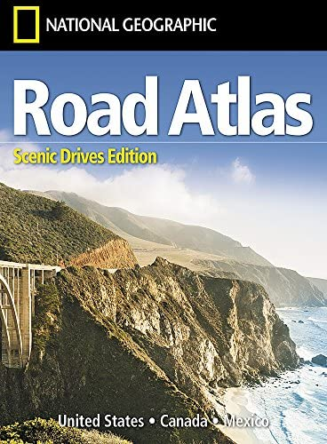 Road Atlas Scenic Drives Edition United States Canada Mexico National Geographic Guide Map National product image
