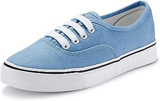 jenn ardor Women Canvas Sneaker Casual Core Classic Skate Shoes Low Cut Espadrilles Lace. US