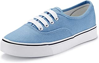 jenn ardor Women Canvas Sneaker Casual Core Classic Skate Shoes Low Cut Espadrilles Lace up Comfortable
