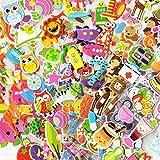 WOKAO / Set 3D Pegatinas de Burbujas hinchadas Dibujos Animados Princesa Gato Caballo DIY bebé Pegatinas estacionarias niños niño niñas B012 3 Hojas