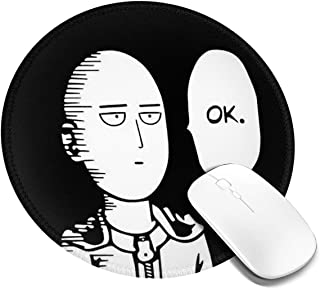 Cool One Punch Man Round Mouse Mat with Designs Natural Rubber Round Mouse Pad Mousepad Gaming Mouse Pad