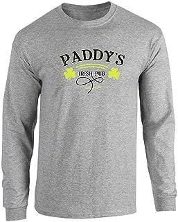 Pop Threads Paddy's Irish Pub Philadelphia St Patrick's Day Full Long Sleeve Tee T-Shirt