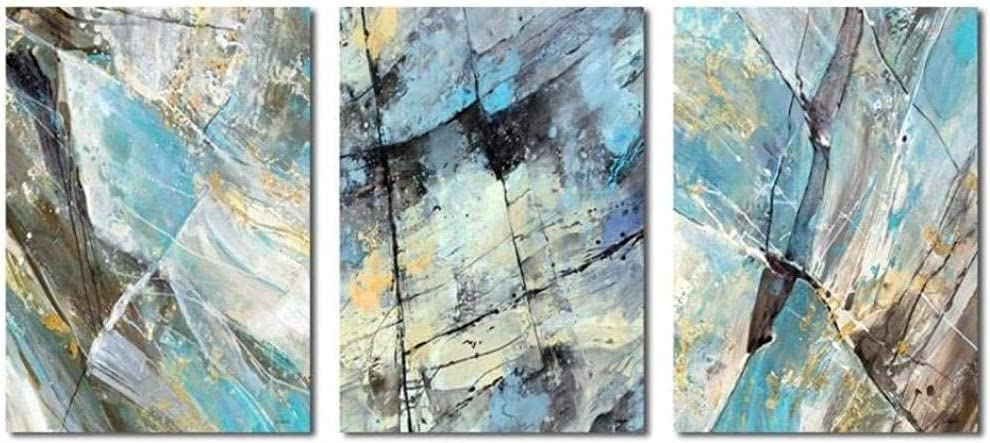 aksldf Gifts Modern Abstract Blue Gold Paintings overseas Poste Canvas Wall Art