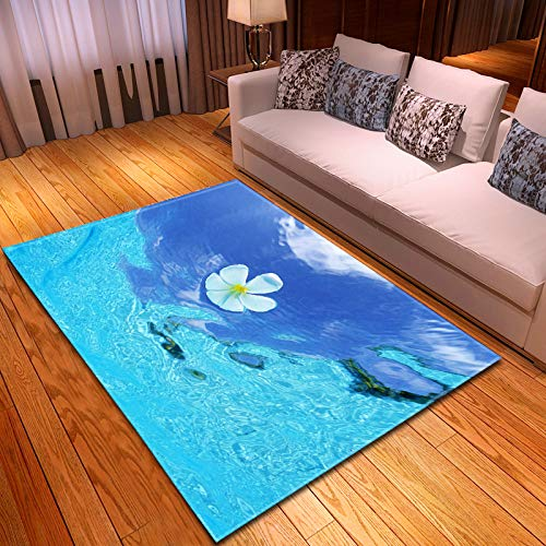Michance 3D European Style Printing Realistic Pattern Carpet Strong And Durable Foldable Pet Mat Suitable For Bedroom, Bathroom, Porch Flowers