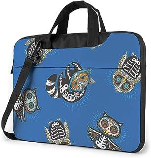 "Mexican Skulls On A Blue Background Laptop Bag Protective Case Computer Messenger Briefcase Women Men 13"""