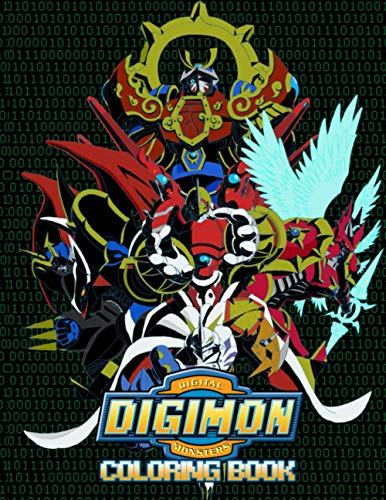 Digimon Coloring Book: Beatiful Anime Illustrations To Color For Kids And Teenagers