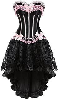 Corset Dress Bustier Lingerie Corset Top and Steampunk Skirt Burlesque Costumes for Women Halloween Costume