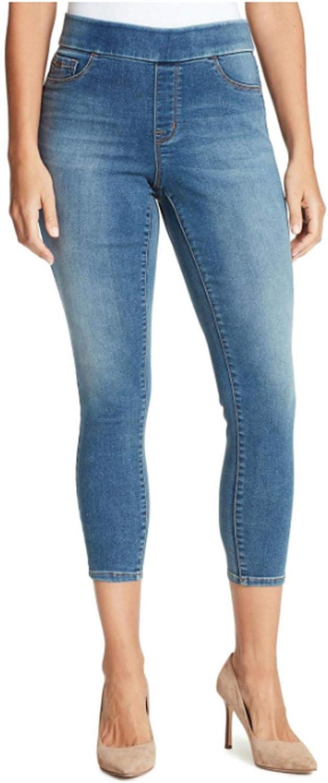 NINE WEST Womens Heidi Pull-On Skinny Crop Jeans (Diana, 10)