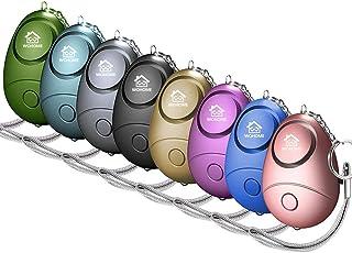 زنگ هشدار ایمن شخصی WOHOME ، زنگ هشدار شخصی Safesound با چراغ ایمنی LED Keychain Keychain برای زنان ، دختران ، کودکان و نوجوانان (8-رنگ)