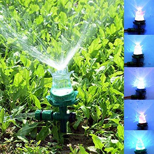 ZHANGYOUDE Sprühflasche LED-leuchtender Rasensprenger Automatischer Wassersprenger Garten-Bewässerungsdüse for den Innenhof