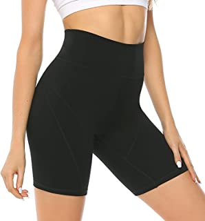 JOYSPELS Womens Athletic Shorts High Elasticity for Workout Yoga Biker Training Running Gym,High Waisted with Pocket