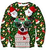 uideazone Men Women Ugly Christmas Sweater Xmas Dog...