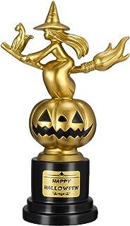 Tomaibaby Halloween Trophy Party Supplies Witch Pumpkin Sculpture Trophy Award Halloween Cosplay Contest Winner Trophy