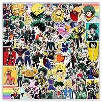 TTKLXJR 50ピースの私のヒーローアカデミアジャパンアニメのステッカーのためのアニメのスケートボード伊豆の井戸池の英雄の英雄の学民のキャラクターデカール (Color : 1)