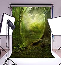 3x5FT Laeacco Vinyl Photography Background Jungle Tropical Mysterious Forest Trees Photo Backdrop Fairy Tale Fantasy & Princess Themed Backdrop 1(w) x1.5(h) m Studio Props