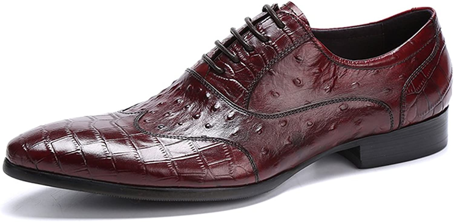 UNbox Mens Grand Pointed Toe Casual Dress Oxford Lace-up shoes