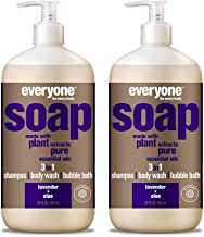 Everyone 3-in-1 Soap - Body Wash, Shampoo, and Bubble Bath - Lavender + Aloe, 32 Ounces, 2 Count