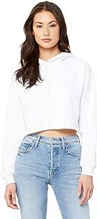 Bella + Canvas - Women's Cropped Fleece Hoodie - 7502 - S - White