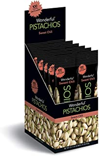 Wonderful Pistachios, Sweet Chili, 1.25 Ounce Bag  (Pack of 12)