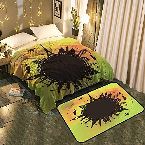 UNOSEKS-Home Manta cálida y Alfombrilla para el Suelo, decoración para el hogar