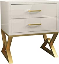Bedroom Bedside Table Storage Cabinet Side Table Sofa Table Modern Nightstand End Table with 2 Drawer for Living Room Sofa