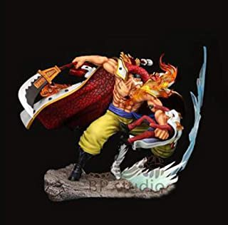 Yvonnezhang One Piece Edward Newgate Figure Barba Blanca VS Sakazuki GK furiosoAnime Modelo Estatua Juguete