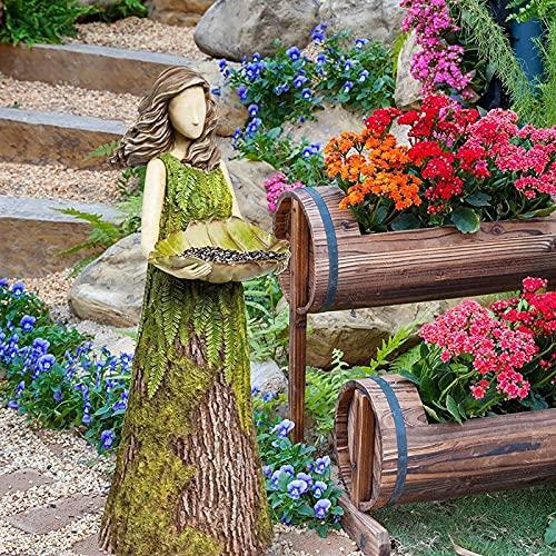 Estatua de decoración de jardín 2 en 1 Resina Jardín Diadess Decoración...