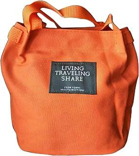 LYCOS3 LYCOS3 Damen Handtasche aus Segeltuch, Mini-Schultertasche, tragbar, Umhängetasche, für Damen und Mädchen, Orange, Free Size