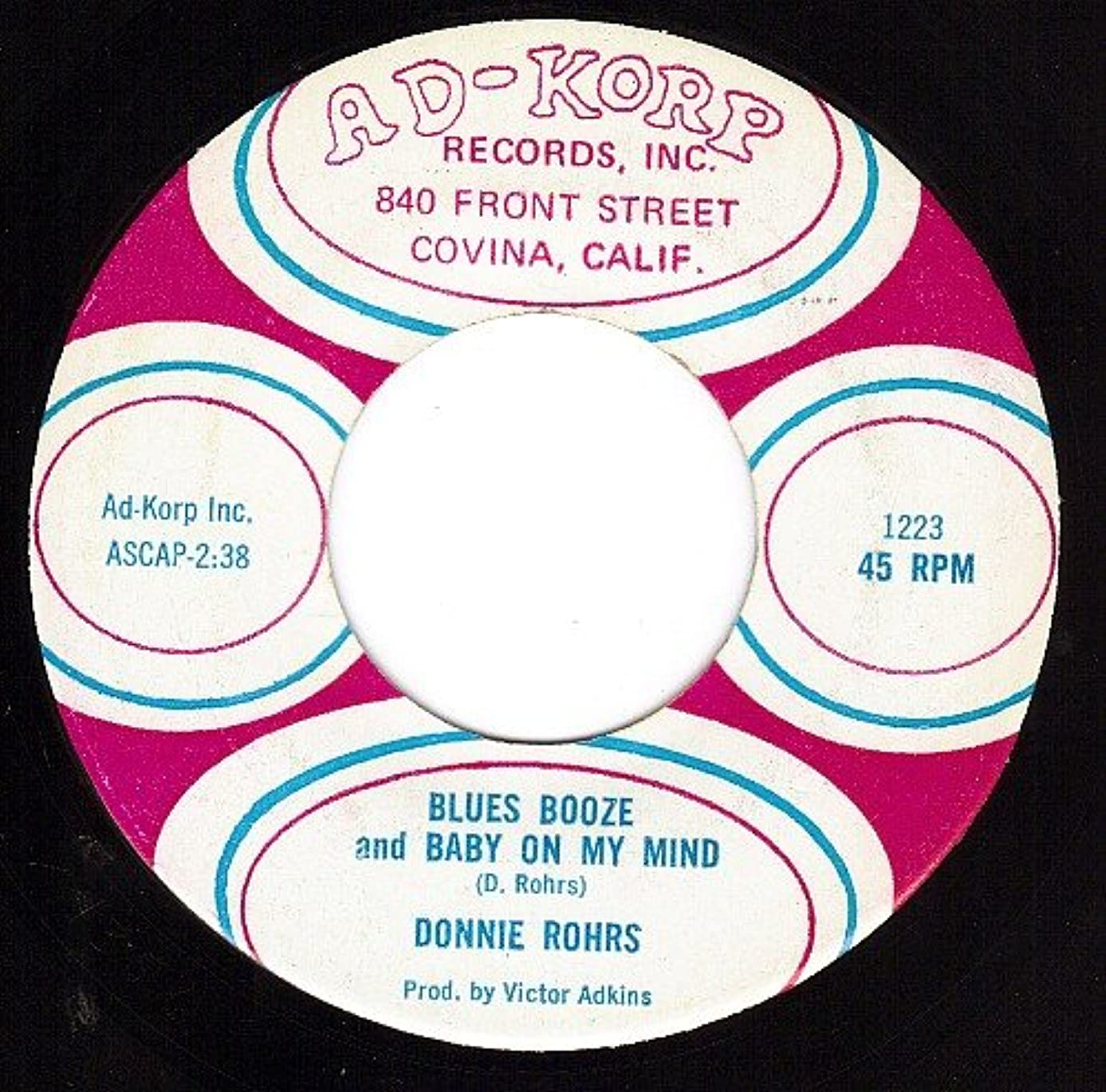 BLUES BOOZE AND BABY ON MY MIND / MO JO SMALL (45/7