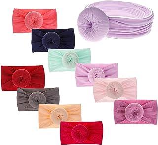 Mubineo Baby Girl Turban Knot Bows Toddler Newborn Infant Girls Nylon Headbands Kids Hair Accessories