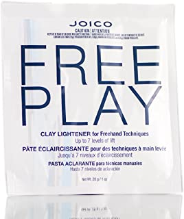 Joico Free Play Clay Lightener for Freehand Techniques, Up to 7 Levels of Lift (includes Sleek Tint Brush) (1 oz / 28g)