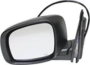 Kool Vue CH65EL Mirror for Dodge Grand Caravan 08-17/Town and Country 08-16 Left Side Power Heated W/One Touch Feature Textured Black