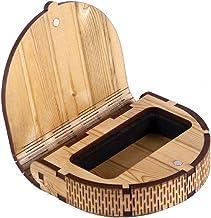 DK HOME APPLIANCES Pendrive Holder Memory Cards Key Holder Jewllery Pouch Case Light Wooden