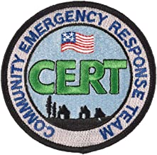 CERT Patch Round Embroidered Community Emergency Response Team Badge - F 86