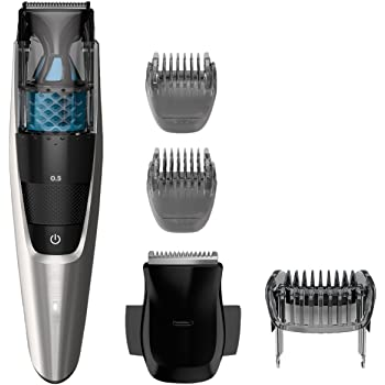 Philips Norelco BT7215/49, Vacuum Beard Trimmer Series 7200, Cordless Lithium-Ion Mustache and Beard Groomer for Men - NO BLADE OIL NEEDED