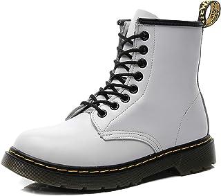 Goettin Femmes ou Hommes Cuir Combat Bottines Martin Chaussures avec Lacets Plus La Taille