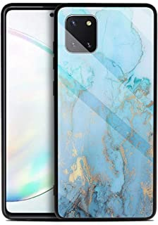 MOONCASE Galaxy Note 10 Lite Case, Hybrid Shockproof Soft TPU Tempered Glass Back Cover Ultra thin Protective Phone Case f...