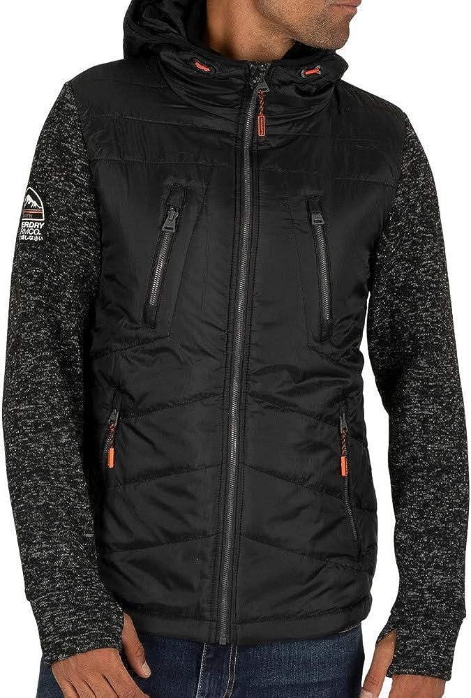 Superdry Men's Storm Hybrid Jacket cheap Zip Black Factory outlet