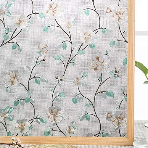 xinyawl Fensterfolie Privatsphäre Fenster Film farbige statische Cling Glasmalerei Film dekorative Fenster Abdeckung opak Sonne Blockierung Anti-UV-Aufkleber 90x200cm