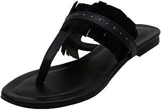 Salt N Pepper Avril Beige Real Leather Women Casual Slippers