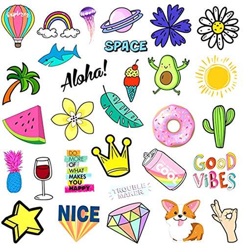 AllRing 40 stuks zomerverfrissende stickers waterdicht decoratieve vinyl stickers graffiti-decals voor feesten, auto, motorfietsen, fiets, skateboard, snowboard, bagage, laptop, computer sticker style 2