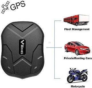 Winnes Localizador GPS para Coche, Tiempo Real GPS Tracker, Anti-perdido Impermeable Rastreador GPS para Totalizador Lost Find Aplicaciones Gratuitas para iOS y Android TKMARS 5000mAh 905
