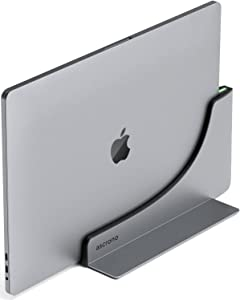 Ascrono Vertical Dock - Compatible with MacBook Pro 13, 15 & 16 inch w/ Touch Bar - Docking Station w/ 2X USB-C Thunderbolt 3 (40Gbps)