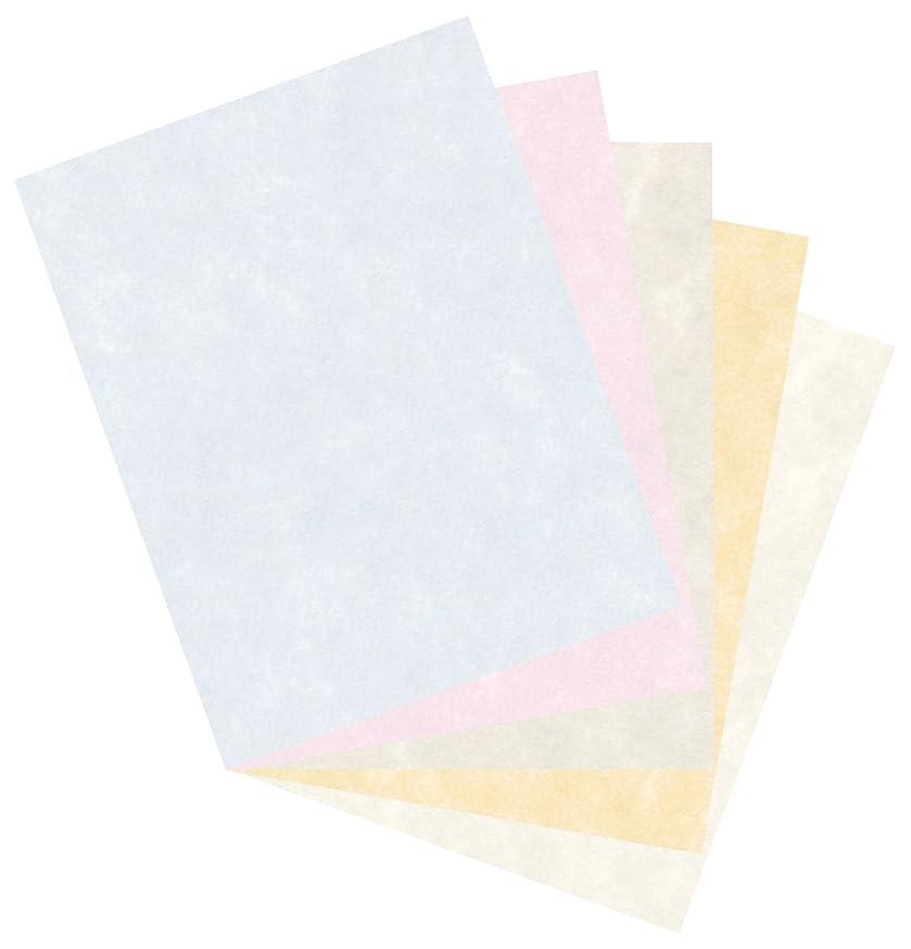 Pacon Parchment Bond Paper, 8-1/2 x 11 Inches, Assorted Colors, 100 Sheets