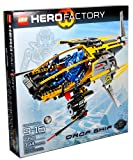 Lego Hero Factory Series Juego de vehículos #7160 - DROP SHIP con alas de sigilo, aletas y mangueras de escape blandas más figura piloto (piezas totales: 394)