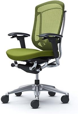 オカムラ オフィスチェア コンテッサ セコンダ 可動肘 ハイバック ウレタンキャスター仕様 クッション グリーン CC83XS-FPC5