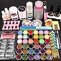 Acrylic Nail Kit, with Acrylic Powder, Nail Flowers Monomer, Glitter Nail Rhinestones Decoration Manicure Nail Art Design Nail Salon Kit