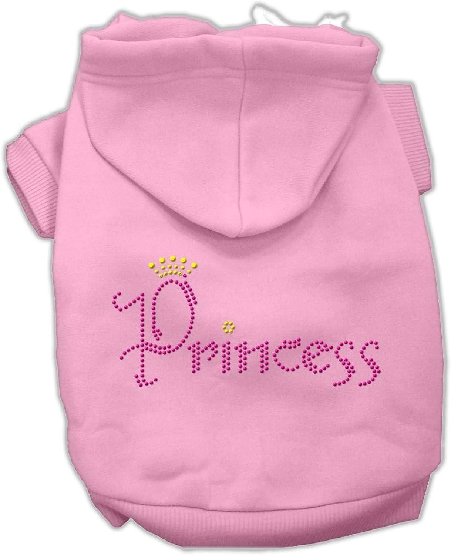 Dog   Cat   Pet Charms Princess Rhinestone Hoodies Pink XS (8)